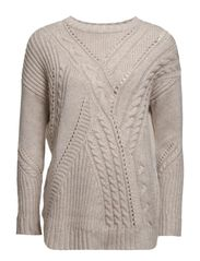 Modal wool-blend sweater - Light beige