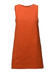 Tweed dress - ORANGE