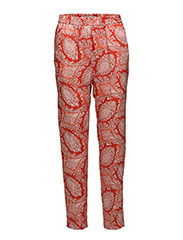 Paisley print trousers - ORANGE