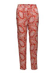 Paisley print trousers - ORANGE