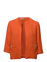 Pocket tweed jacket - ORANGE