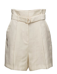 Belt soft fabric shorts - LIGHT BEIGE