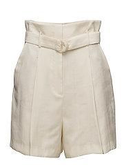 Belt soft fabric shorts - LIGHT BEIGE
