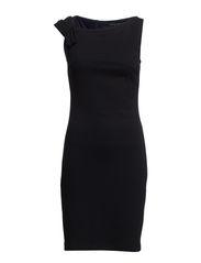 Pleated shoulder dress - Dark blue