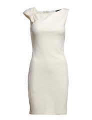 Pleated shoulder dress - Natural white