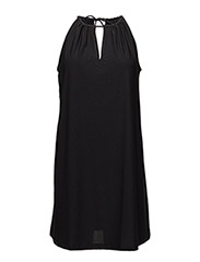 Halter neck dress - BLACK