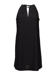 Halter neck dress - BLACK