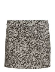 Jacquard cotton miniskirt - Black