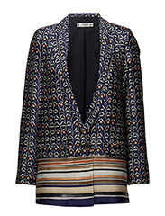 Combined print blazer - MEDIUM BLUE