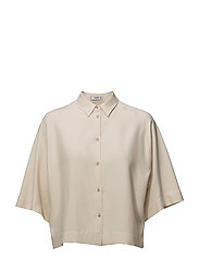 Oversize soft shirt - LIGHT BEIGE