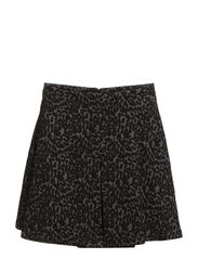 Leopard flared skirt - Medium grey