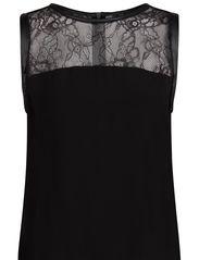 Lace panel top - Black