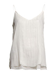Metallic pleated top - Natural white