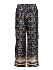 Combi print trousers - MEDIUM BLUE