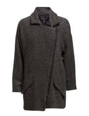 Tweed oversize coat - Dark grey