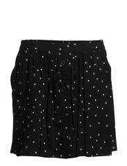 Star flared skirt - Black