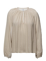 Metallic thread blouse - NATURAL WHITE