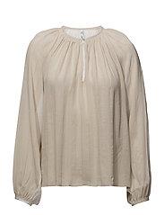 Metallic thread blouse - NATURAL WHITE