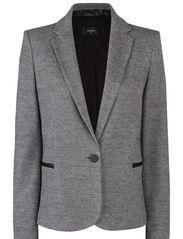 Houndstooth wool-blend blazer - Medium grey