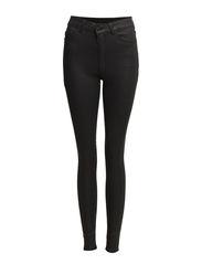 High waist jeans - Black