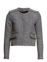 Herringbone jacquard jacket - Black
