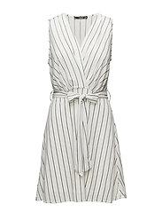 Bow wrap dress - NATURAL WHITE
