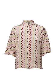 Oversize check shirt - NATURAL WHITE