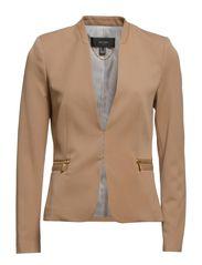 Zip fitted jacket - Medium brown