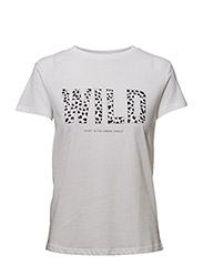 Organic printed cotton t-shirt - WHITE