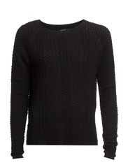 Flake textured sweater - Black
