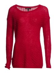 Textured mohair-blend sweater - Bright red