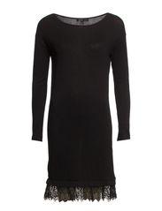 Silk cashmere-blend dress - Black