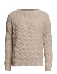 Wool-blend sweater - Dark brown
