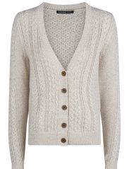 Cable-knit cardigan - Light beige