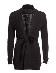 Cable-knit cardigan - Black