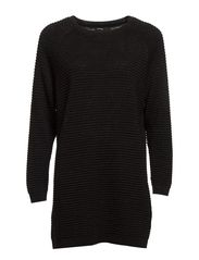 Glitter long sweater - Black
