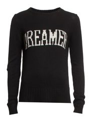 Wool-blend sweater - Black