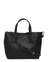 Pebbled mini shopper bag - BLACK