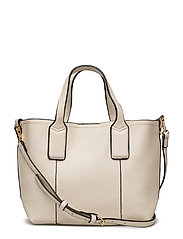 Pebbled mini shopper bag - LIGHT BEIGE