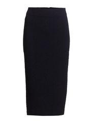 Textured pencil skirt - Navy