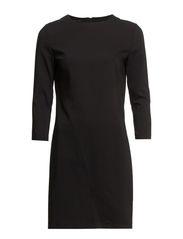 Vent cotton dress - Black
