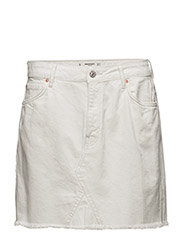 Denim organic cotton skirt - WHITE