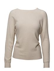 Knot detail sweater - LIGHT BEIGE