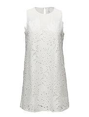 Guipure appliqu dress - LIGHT BEIGE