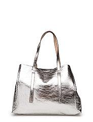 Metallic-effect shopper bag - SILVER