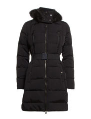 Feather down long coat - Black
