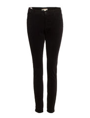 Slim-fit corduroy trousers - Black