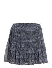 Floral pleated skirt - Navy