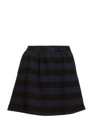 Textured striped skirt - Navy