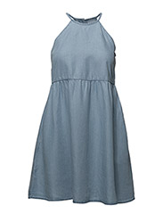 Soft denim dress - OPEN BLUE